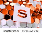 white paper letter s on the...
