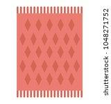 a floor mat  hand woven area... | Shutterstock .eps vector #1048271752