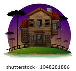 haunted house at night   Shutterstock .eps vector #1048281886