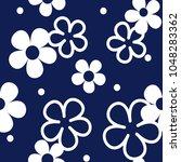 tiny flowers seamless pattern.... | Shutterstock .eps vector #1048283362