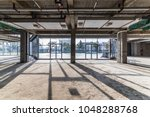 construction site building with ... | Shutterstock . vector #1048288768