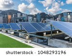 solar and modern city skyline  | Shutterstock . vector #1048293196
