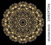 mandala style vector shapes.... | Shutterstock .eps vector #1048297246