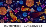 embroidery universe and... | Shutterstock .eps vector #1048302985