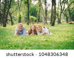 happy family concept   father ... | Shutterstock . vector #1048306348
