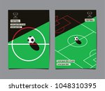template sport layout design ... | Shutterstock .eps vector #1048310395