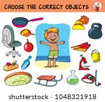 choose the correct objects for... | Shutterstock .eps vector #1048321918