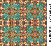 seamless abstract pattern with... | Shutterstock . vector #1048326205