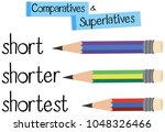 english grammar for comparative ... | Shutterstock .eps vector #1048326466