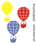 three flying balloons  vector... | Shutterstock .eps vector #1048326916