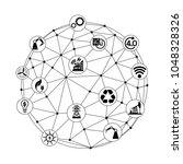 industry 4.0 concept  smart... | Shutterstock .eps vector #1048328326