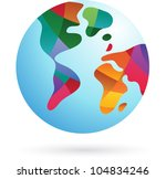 colorful world  earth icon ... | Shutterstock .eps vector #104834246