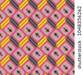 seamless abstract pattern with... | Shutterstock .eps vector #1048356262