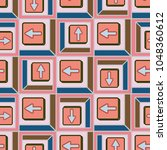 seamless abstract pattern with... | Shutterstock .eps vector #1048360612