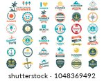 summer retro vector logo for... | Shutterstock .eps vector #1048369492