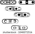 capsule shape speaker icon... | Shutterstock .eps vector #1048372516