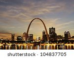 city of st. louis downtown with ... | Shutterstock . vector #104837705