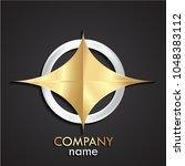 3d silver golden metal emblem...   Shutterstock .eps vector #1048383112