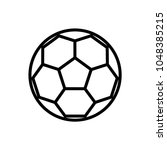 soccer ball line art  vector... | Shutterstock .eps vector #1048385215