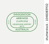 melbourne passport stamp....   Shutterstock . vector #1048385932
