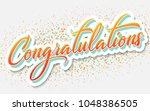 congratulations   typography ... | Shutterstock .eps vector #1048386505