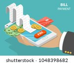 bill payment flat isometric... | Shutterstock .eps vector #1048398682