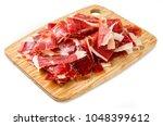 spanish cured ham | Shutterstock . vector #1048399612