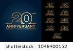 set of anniversary logotype.... | Shutterstock .eps vector #1048400152