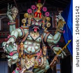 Small photo of Ogoh-Ogoh, demon statue made for Ngrupuk parade conducted on the eve of Nyepi day. Square image.