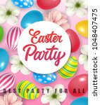 easter party best party for all ... | Shutterstock .eps vector #1048407475