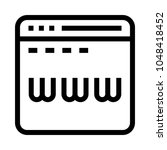www vector line icon
