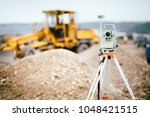 surveyor equipment gps system... | Shutterstock . vector #1048421515