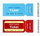 ticket template modern trendy... | Shutterstock .eps vector #1048424128