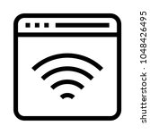 web wifi vector line icon