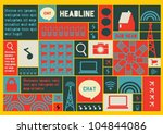 vector of template for icons... | Shutterstock .eps vector #104844086