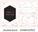 luxury wedding invite ... | Shutterstock .eps vector #1048442902