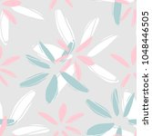 modern floral seamless vector... | Shutterstock .eps vector #1048446505