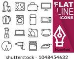 editable stroke. simple set of... | Shutterstock .eps vector #1048454632