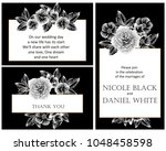 invitation with floral... | Shutterstock . vector #1048458598
