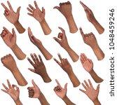 african american man hands... | Shutterstock . vector #1048459246