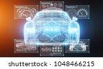 modern digital smart car... | Shutterstock . vector #1048466215