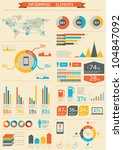 retro infographics set. world... | Shutterstock .eps vector #104847092