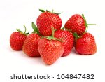 Strawberries Isolated Over...