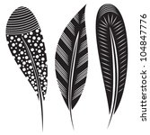 Vector Illustration Of Feather...