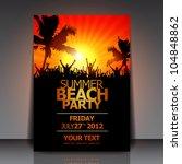summer beach party flyer  ... | Shutterstock .eps vector #104848862