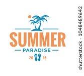travel summer holiday logo icon ...   Shutterstock .eps vector #1048489642