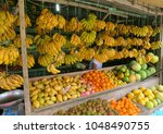 siargao island local fruits... | Shutterstock . vector #1048490755