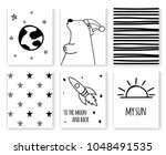 set of scandinavian design... | Shutterstock . vector #1048491535