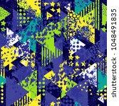 abstract seamless vector... | Shutterstock .eps vector #1048491835