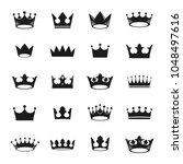 royal crowns ancient emblems... | Shutterstock .eps vector #1048497616